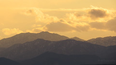 Snow and a touch of warmth (-Filippos-) Tags: winter sunset snow mountains cyprus hills range kypros
