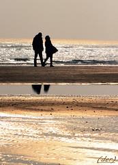 passeggiando in riva al mare (erman_53fotoclik) Tags: canon mare silhouettes acqua inverno riflessi spiaggia neri coppia sabbia veneto 500d profili sottomarina erman arenile erman53fotoclik