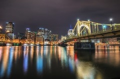 The Roberto Clemente Bridge reflects at night HDR (Dave DiCello) Tags: beautiful skyline photoshop nikon pittsburgh tripod usxtower christmastree mtwashington northshore northside bluehour nikkor hdr highdynamicrange pncpark thepoint pittsburghpirates cs4 d600 ftpittbridge steelcity photomatix beautifulcities yinzer cityofbridges tonemapped theburgh clementebridge smithfieldstbridge pittsburgher colorefex cs5 ussteelbuilding beautifulskyline d700 thecityofbridges pittsburghphotography davedicello pittsburghcityofbridges steelscapes beautifulcitiesatnight hdrexposed picturesofpittsburgh cityofbridgesphotography