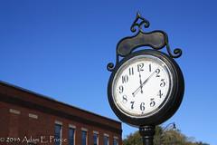 Main Street Clock (Adam's Journey) Tags: favorites northcarolina wendell clocks wakecounty us64 2013