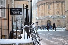 16 Ironic Oxford (Hayzphotos) Tags: uk winter england snow bike bicycle nikon january 01 oxford 20 2013 nikond7000 hayzphotos
