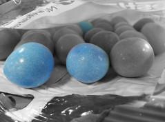 Smartie Eggs (22/365) (diedintragedy) Tags: easter smarties eggs nestle paleblue coloursplash selectivecolour