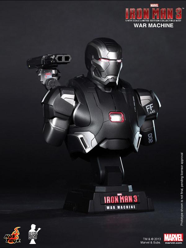 Hot Toys - 鋼鐵人3 :1/4 戰爭機器胸像