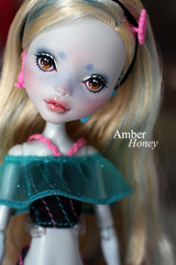 Sailing! (Amber-Honey) Tags: blue monster skull amber high mod doll ooak honey custom shores mattel repaint lagoona