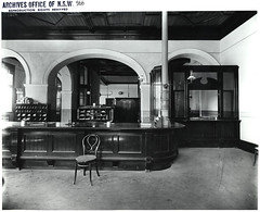 Interior of unidentified Post Office (NSW State Archives and Records) Tags: blackandwhite archives newsouthwales staterecordsnsw