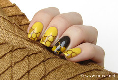 Honey Nails (mari_lumme) Tags: naildesign yellownails brownnails