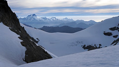 west over blockade col (go wild - NZ outside) Tags: park new blue mountain snow mountains ice landscape geotagged haze mt view plateau first peak glacier zealand national wilderness doc blockade saddle crossings olivine aspiring 2013 darrans geo:lat=44450080250907675 geo:lon=16837217330932617 firstcrossings