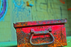 Keep (kcarney80) Tags: old blue red color green abandoned metal photography photo nikon rust paint photos hard d3100 nikond3100