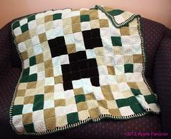 Crochet domino motif creeper blanket (ayano-pany) Tags: motif handmade crochet knit blanket creeper     minecraft