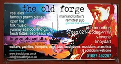 The Old Forge (OutdoorMonkey) Tags: sign scotland pub inn advert remote wilderness knoydart mallaig inverie oldforge guinnessbookofrecords theoldforge remotestpub mainlandbritainsremotestpub