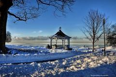winterwonderland (Rex Montalban Photography) Tags: winter snow glow niagara gazebo ts hdr niagaraonthelake hss rexmontalbanphotography slidersunday