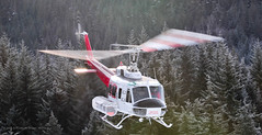 Short Bus (Three Per) Tags: winter mountains whistler snowboarding flying skiing bell aviation columbia british helicopters heli blackcomb 205