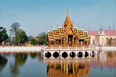 Bang Pa-In Summer palace, Ayutthaya, Thailand (kingdomany) Tags: world travel color art architecture thailand temple photo ancient nikon flickr thai ayutthaya d90