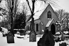 The Old Chapel, Field Road Cemetery, Bloxwich 25/01/2013 (Gary S. Crutchley) Tags: road uk winter england urban bw white snow black west heritage history monochrome cemetery grave field yard town nikon memorial seasons britain interior united country great victorian kingdom chapel funeral and local townscape staffordshire westmidlands rd walsall midlands blackcountry bloxwich d700