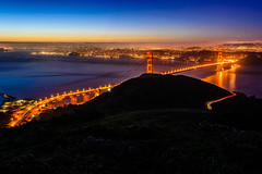 Slacker Sunrise (Clint Sharp) Tags: sanfrancisco longexposure bridge golden gate long exposure hill goldengatebridge slacker slackerhill slackerridge d3100
