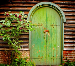 Greendoor (Explored *170 on 19th February 2013-thanks!) (jimj0will) Tags: doorgreen texture rustic churchroselapboardessexgreendoorbicknacreenglandexploreexploredhingespeelingpaintflakingpaintflakingbrickspadlocklocksecurityarchjimj0willjimjowill