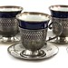 2095. Four Lenox & Sterling Demitasse Cups