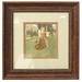 228. Framed Lithograph in Colors of a Milkmaid & Cow after William D. Adams