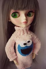 Cookie Monster (Hongse_m) Tags: monster sweater cookie aussie tangkou hongse