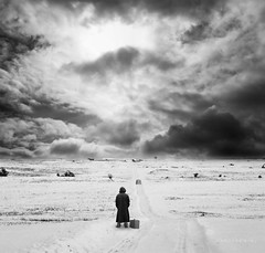 Left Behind (h.koppdelaney) Tags: life winter snow art digital photoshop vintage landscape lost leaving ancient symbol picture philosophy forgotten mind change metaphor left zeitgeist limit psyche symbolism psychology archetype koppdelaney