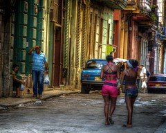 Havana - Cuba (IV2K) Tags: street girls sony havana cuba caribbean alpha cuban habana lada hdr photomatix tonemapped a900 blinkagain