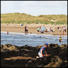 summertime (foto.phrend) Tags: sea beach wales square seaside sand 500d augustbankholiday