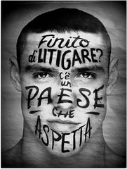 Have you finished fighting? (serafini marisa) Tags: newspaper pubblicit corrieredellasera giornali pubblicity piazzaitalia