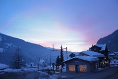 Davos-Klosters (Walt vd Hoeven) Tags: trees snow ski mountains tree train skiing suisse swiss sneeuw trains davos klosters skien zwitserland graubnden graubunden