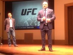 Entrepreneurial Success in Ultimate Fighting and Online Gambling (usdsba) Tags: students dean alumni usd businessschool breitling entrepreneur sba universityofsandiego schoolofbusiness 2013 pyke fertitta schoolofbusinessadministration deandavidpyke