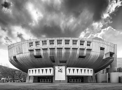 Auditorium Maurice-Ravel (Chimay Bleue) Tags: white black france monochrome architecture modern french concrete theater lyon theatre modernism architect auditorium brutalism beton midcentury brut spectacle pottier archidose delfante