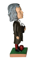 """Sir Isaac Newton Principia Science 7"""" Cultured Marble Bobblehead Doll (TheBobblehead14403) Tags: england history toy doll 7 science novelty gift handpainted mathematics educational bobblehead collectible calculus custom rare isaacnewton conversationpiece colorbox principa polyresin acrylicpaints coldcastmarble chromesteelspring"""