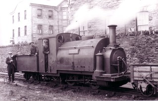Tywysog Rheilffordd Ffestinog yn Mlaenau Ffestinoog.   Ffestiniog Railway`s Prince at Blaenau Ffestiniog