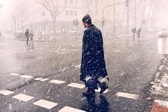 Winter in Cologne (Patrick Pielarski) Tags: street winter snow candid cologne 4s koln iphone aachenerstrase uploaded:by=flickrmobile flickriosapp:filter=nofilter