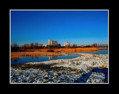 Landschap (Theo Kelderman) Tags: holland haarlem water netherlands landscape sneeuw nederland flats landschap schalkwijk plassen rier theokeldermanphotography poelbroek