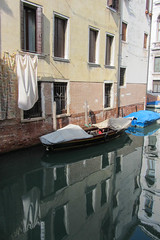 So Still (Jocey K) Tags: venice houses windows italy water architecture reflections canal worldheritagesite gondola washing washingline cosmostour6330