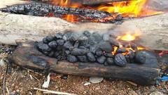 """Fires go crackle crackle Crackle"" (-b.ash-) Tags: fire coal blastbeach northeastcoast seacoal northeastuk northeastdurham durhamheritagecoast"