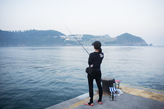 Fanny Fishing () Tags: portrait fish girl asian pier fishing     nikkorais28mmf28   nikond800