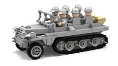 SdKfz10 _LBG (Florida Shoooter) Tags: germany lego ww2 halftrack ldd sdkfz10