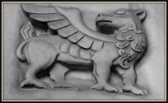 Detail: Sculptural Relief, Saint Cecilia Roman Catholic Church--Detroit MI (pinehurst19475) Tags: city urban blackandwhite bw building church parish blackwhite catholic architecturaldetail michigan detroit romancatholic wingedcreature architecturaldetails stcecilia saintcecilia livernois sculpturalrelief saintceciliaromancatholicchurch