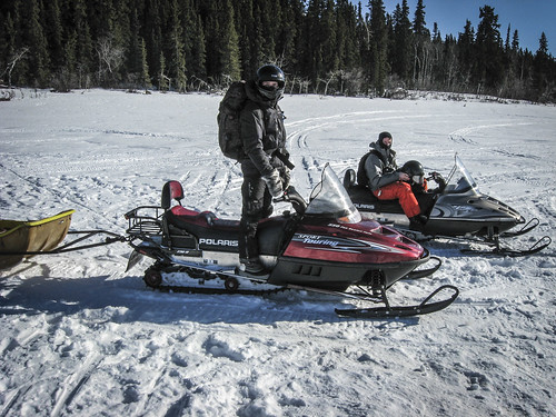Matt and Matt B Snowmobiling
