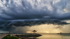 Natural Phenomenon (eggysayoga) Tags: bali cloud storm beach rain sunrise indonesia landscape weird scary nikon soft day cloudy path tokina formation odd filter 09 lee nd bale 116 graduated sanur karang gnd balebengong 1116mm d7000 balesekepat