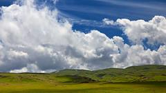 highlands (monorail_kz) Tags: kazakhstan almatyregion dzungarianalatau dzungaria highlands plateau alatau sky clouds blue green pasture grass summer june