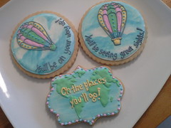 Oh The Places You'll Go! (jerseyshorecookiestore) Tags: drseuss cookie hotairballoon map