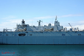 HMAS Adelaide (L01) at Garden Island