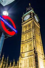 Big Ben by night (KristianDentuto) Tags: bigben clock hdr london night underground