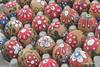 Flower Eggs (SalvagedStitch) Tags: paintedeggs confettieggs fiesta festival santabarbara
