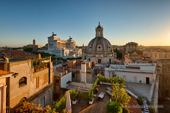 Rome with a view (in explore 19-08-2016) (Marc Haegeman Photography) Tags: rome roma italia italy roman bellaitalia summer romanholiday vacanzeromane trajansforum forumtraiani altaredellapatria monumentonazionaleavittorioemanueleii dome rooftops skyline europe nikond800 marchaegemanphotography sunset atmospheric moody campidoglio capitolinehill outdoor architecture ancient building city residenzatorrecolonna rooftopgarden