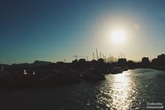 Sunset at the port (MarthaPR) Tags: port puerto barcos boats sunset atardecer ganda valencia skyline landscape city citylife summer summertime contraluz backlight canon 700d