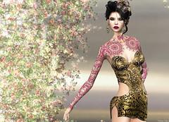 ArisAris - Softly Dress (Rehana MiSS SLVietnam, Face of CHOP ZUEY 2015) Tags: sl secondlife fashion rehana rehanaseljan newrelease arisaris belleza chopzuey lode laboheme moon carolg zibska posesion