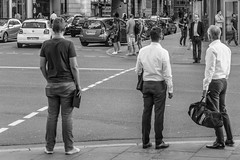 after business hours... (michael_hamburg69) Tags: hamburg germany deutschland hansestadt people candid stranger city streetlife monochrome men whiteshirt shirt office suittie büroschlus thankgoditsfriday